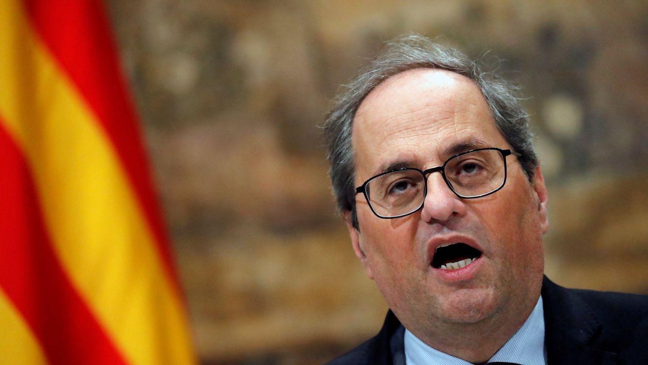 ERC deja caer a Torra como diputado.Jordi Cuixart, el 16 de enero, en su primera salida de la prisión de Lledoners con un permiso de 48 horas
