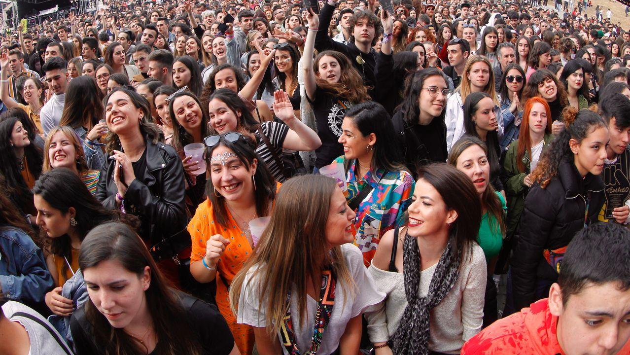 Concierto de David Guetta en el festivalO Son do Camiño.Iggy Pop, en plena actuación durante la última jornada de O Son do Camiño