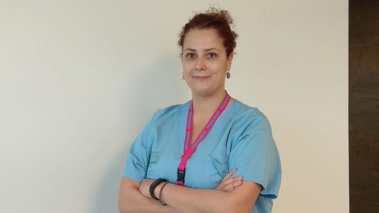 María Nieves García trabaja en el servicio de Reanimación del CHUO