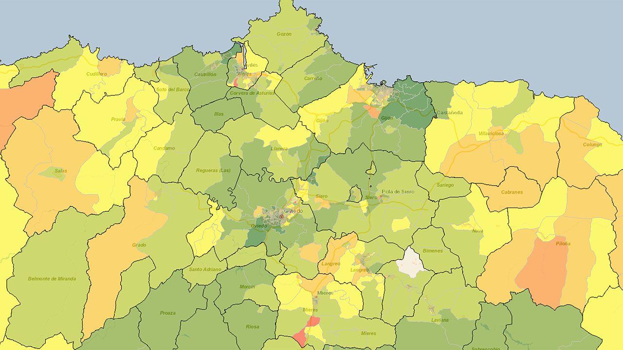 Atlas de Distribución de Renta de los Hogares en el área central de Asturias