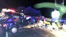 Accidente en Valdeorras en el que murió una mujer en la N-120 a la altura de Rubiá