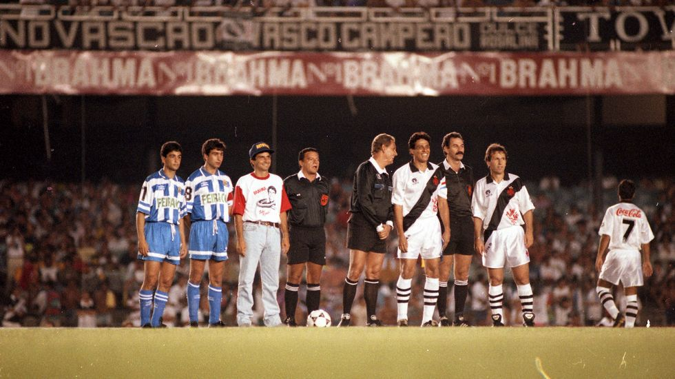 Bebeto, José Ramón, Nelson Piquet, Dinamite y Zico.