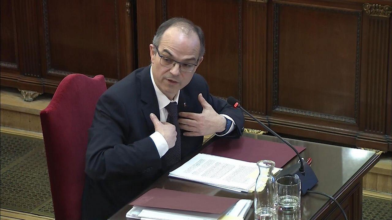 «Los catalanes no son ovejas ni gente militarizada. Sean independentistas o no, tienen criterio», aseguró Jordi Turull durante su declaracion