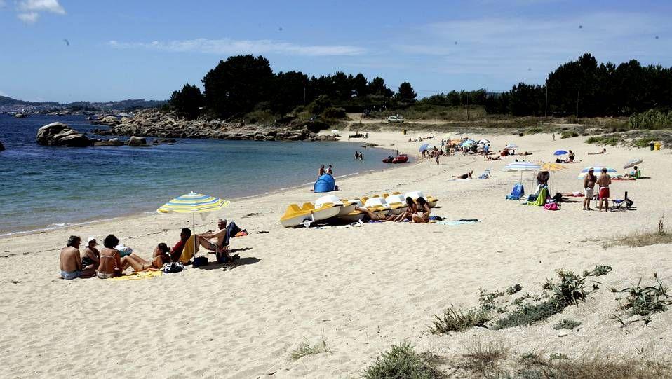 Burela.Playa de A Illa da Laxe (Pobra do Caramiñal).
