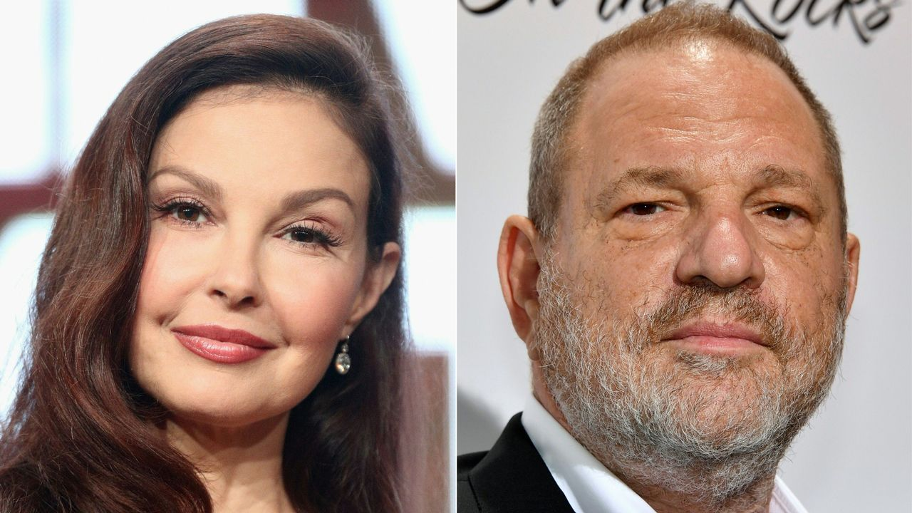 | EFE.La actriz Ashley Judd y el productor Harvey Weinstein
