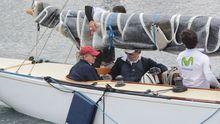 El rey emérito participando en una regata en Sanxenxo en el 2016