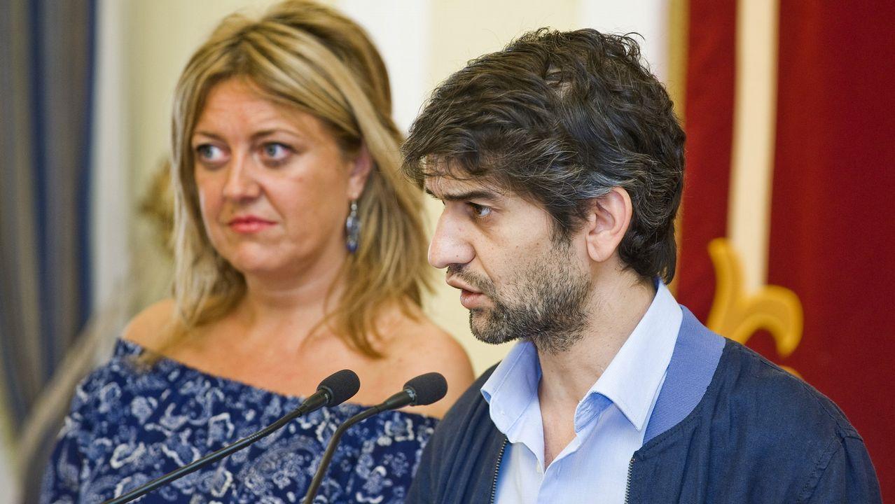 Corina Porro, Manuel Pérez y Juan Corral, excandidatos del PP en Vigo