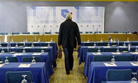 El portavoz nacional del BNG, Guillerme Vázquez, en el consello celebrado hace casi un año.