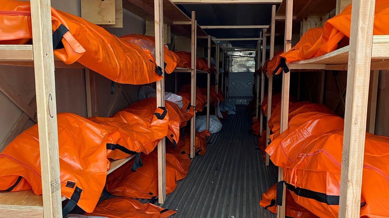 Una morgue improvisada en Brooklyn para las víctimas del coronavirus