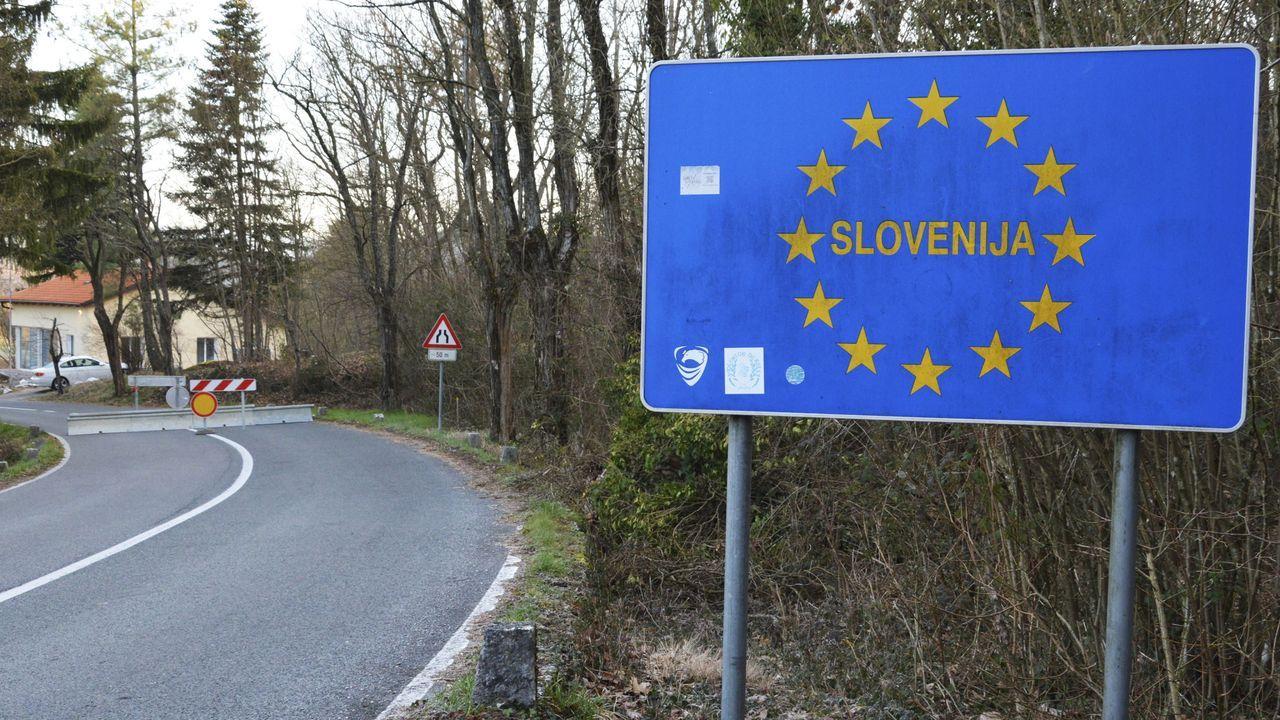 Frontera de Eslovenia con Italia
