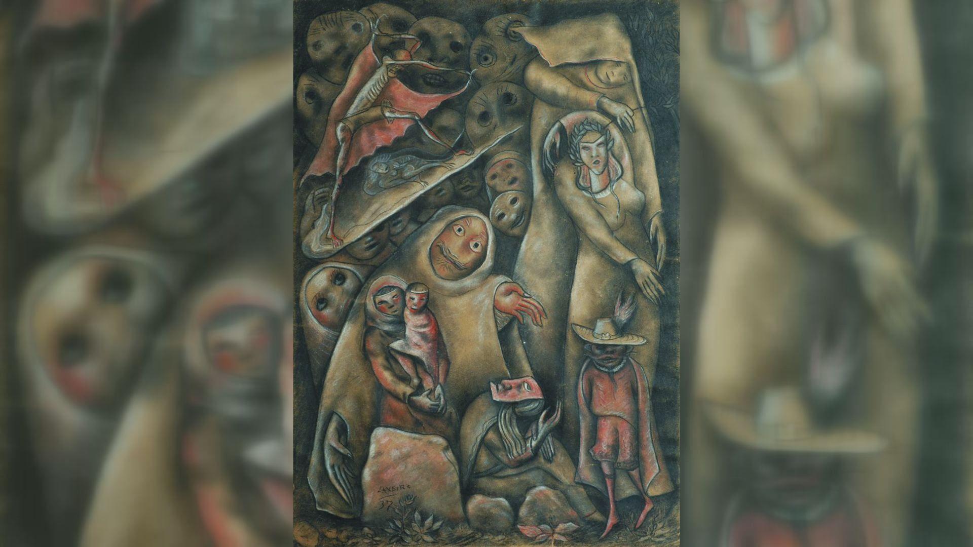 FLORIAN WIESER / EFE.Obra de Laxeiro de 1937 sen título