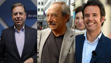 Alfredo Canteli, Wenceslao López e Ignacio Cuesta