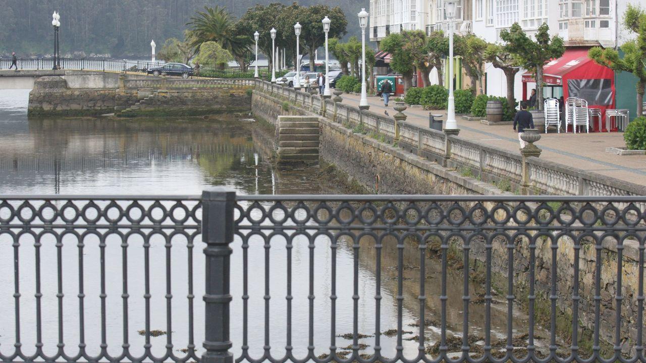 Vista de A Cabana, en Ferrol, uno de los núcleos del municipio con menos de cinco mil habitantes