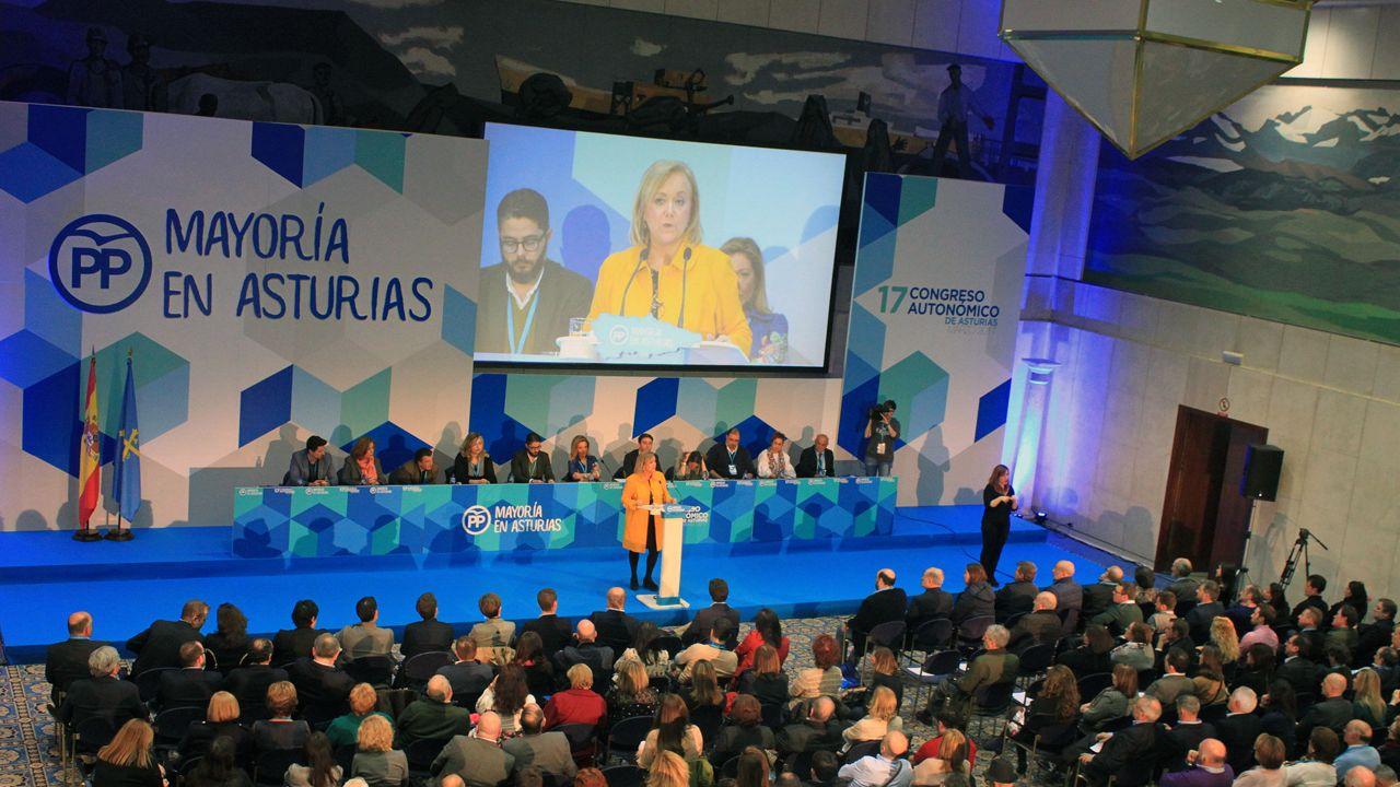 La clausura del XVII congreso autonómico del PP de Asturias.