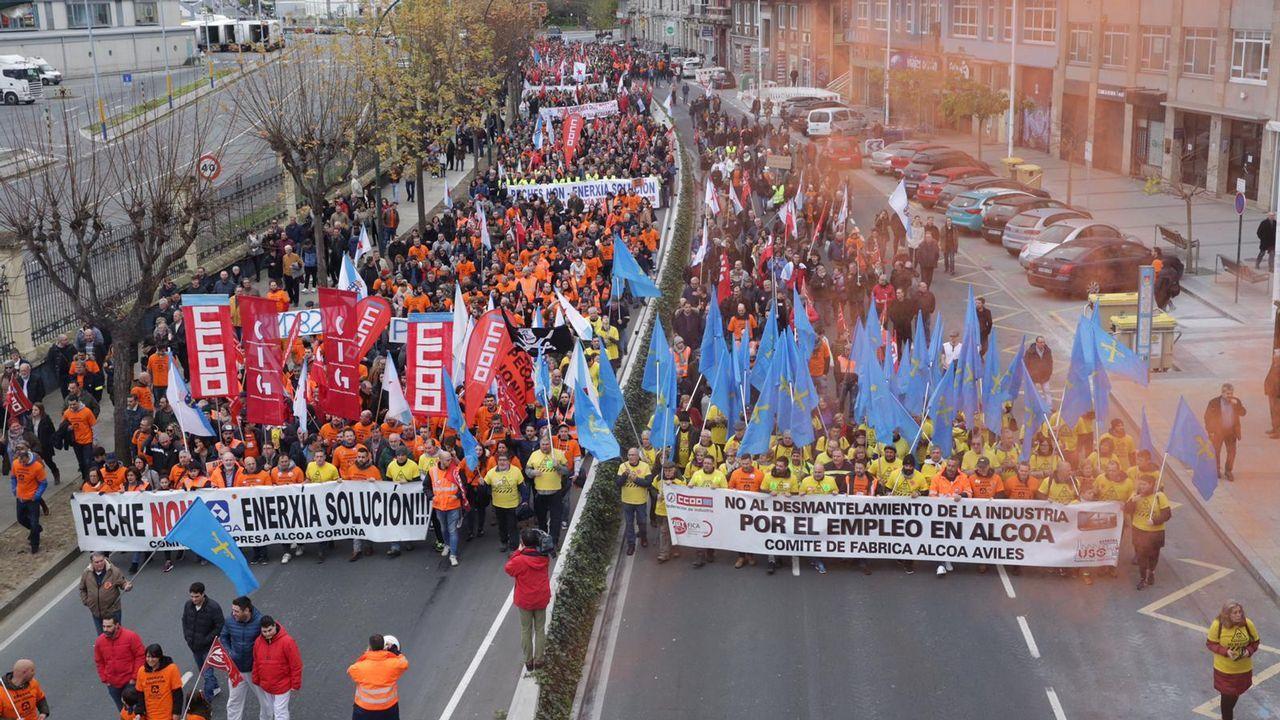 Gran manifestación en A Coruña por Alcoa