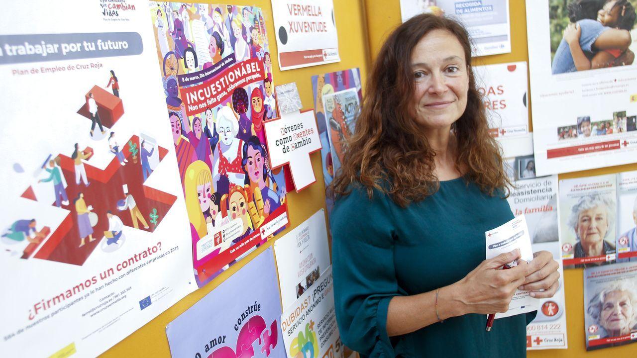 En la imagen, Carmen Fernández, delegada especial de Cruz Roja Ferrol