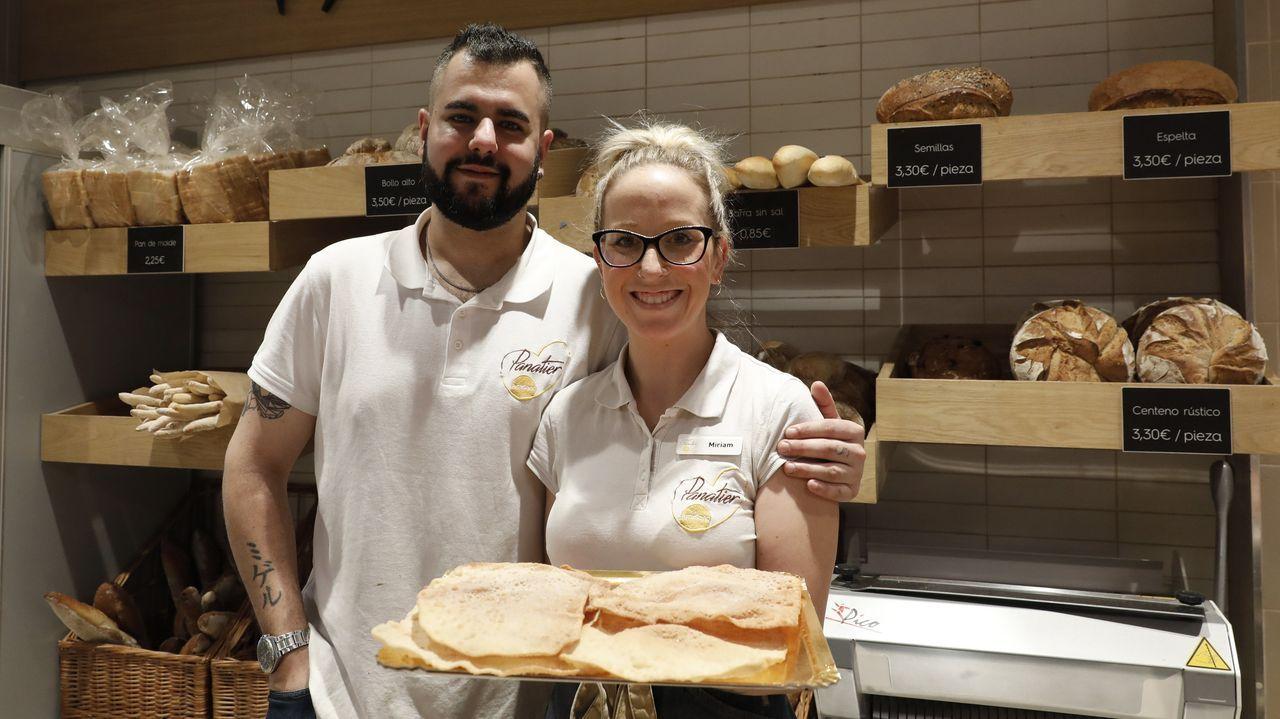 José Seijo y Miriam Parada, desde la cafetería Panatier