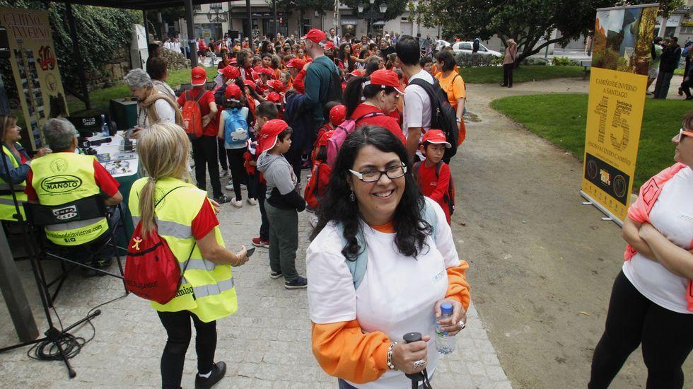 En esta cuarta cuarta Andaina Escolar polo Camiño de Inverno participaron unos 1.200 estudiantes