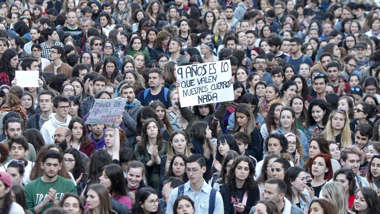 Pablo Iglesias, durante una de sus intervenciones durante la moción de censura