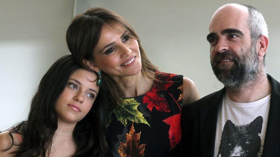 Luis Tosar, Paula del Río y Goya Toledo, de «El desconocido».