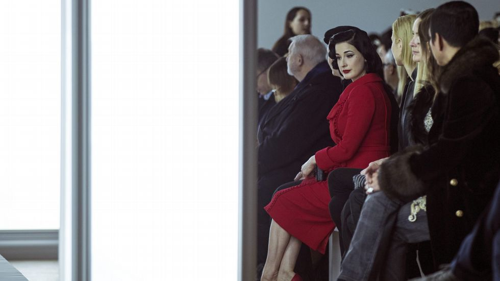 La modelo y diseñadora estadounidense Dita Von Teese.
