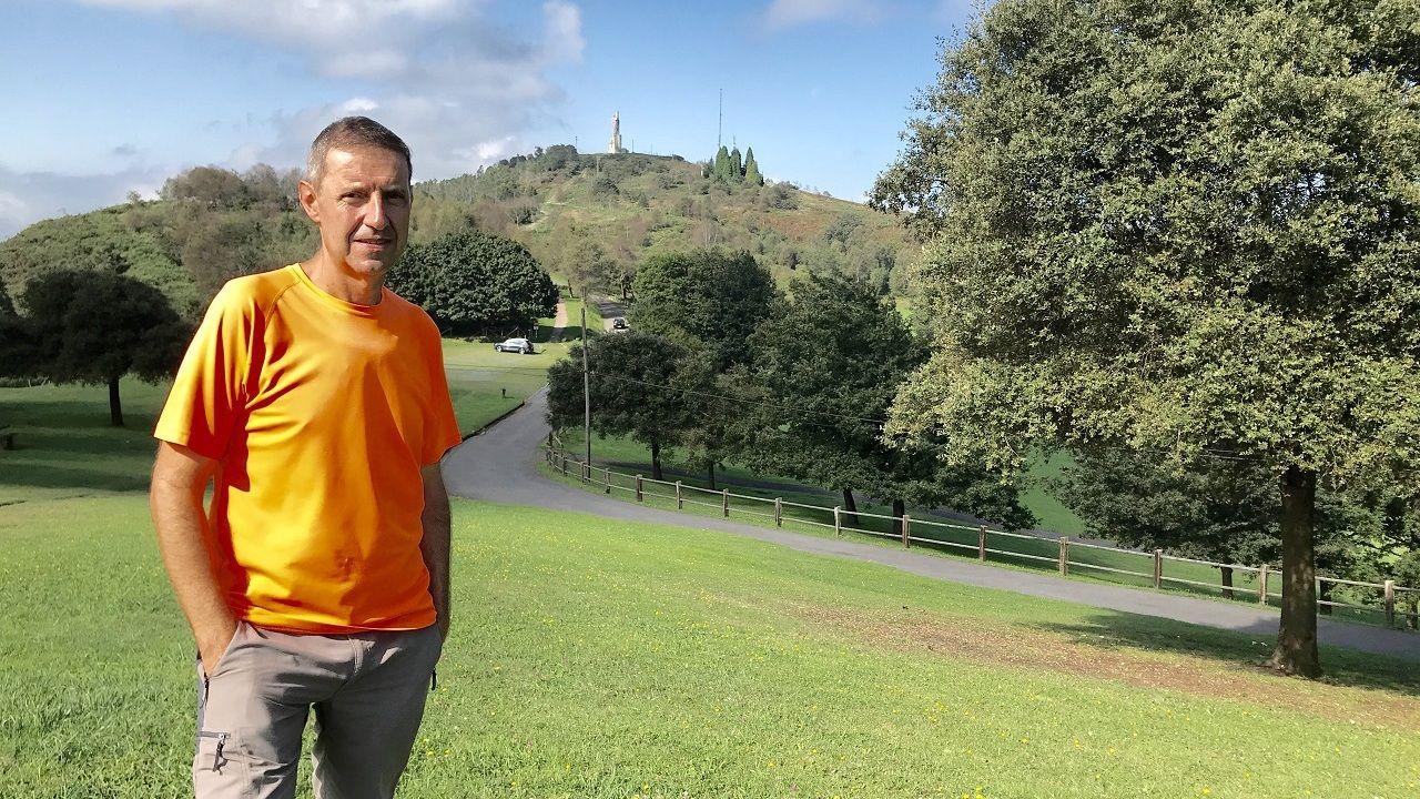 Carlos Fernández Llaneza, en el Naranco