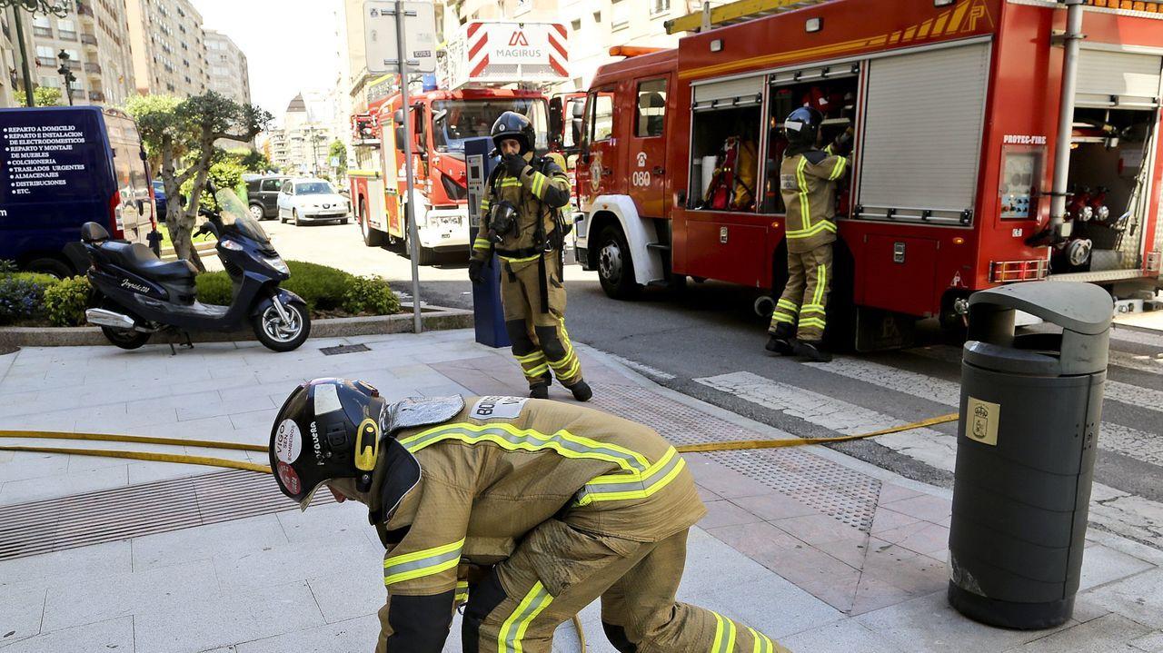 Imagen de archivo de los bomberos de Vigo en una actuación