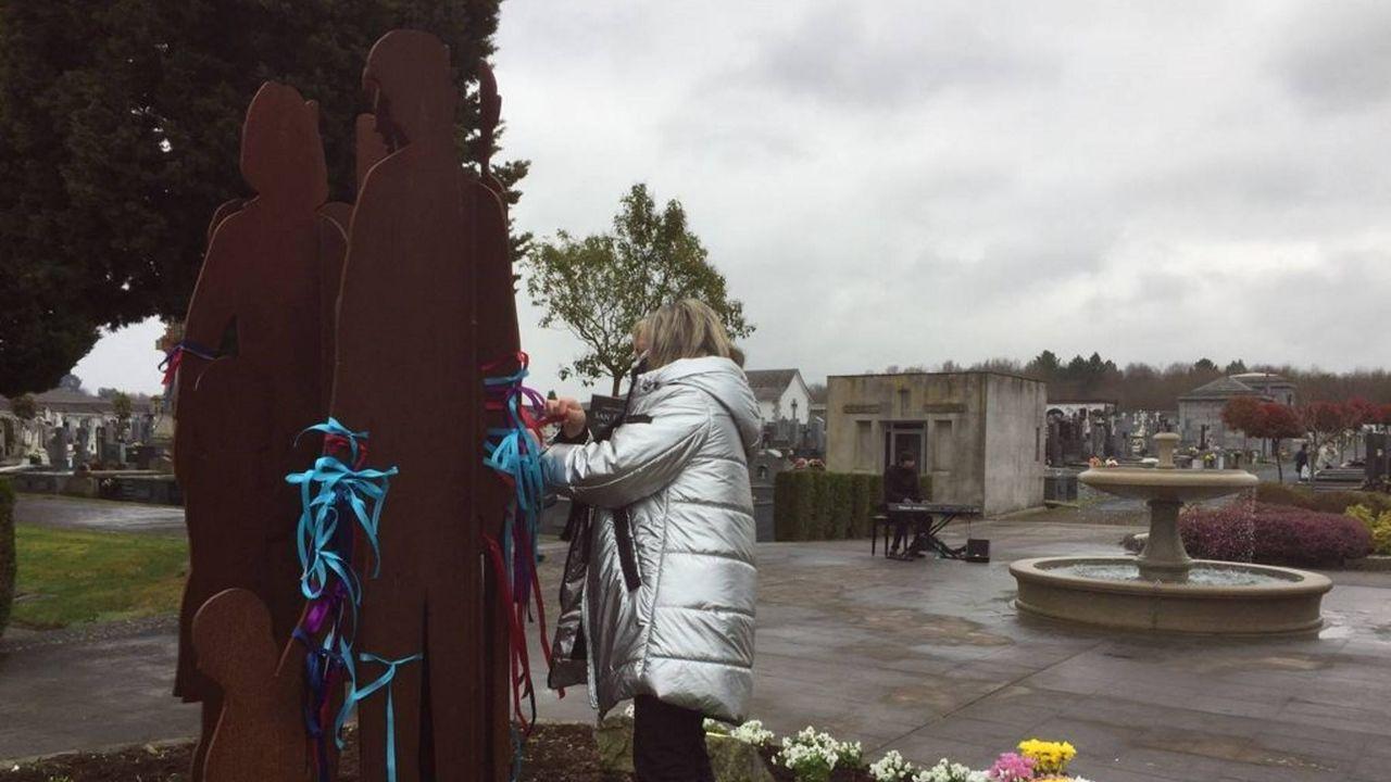 O acto celebrado no cemiterio de San Froilán foi moi emotivo