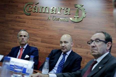 García-Legaz visitó la Cámara de Comercio coruñesa.