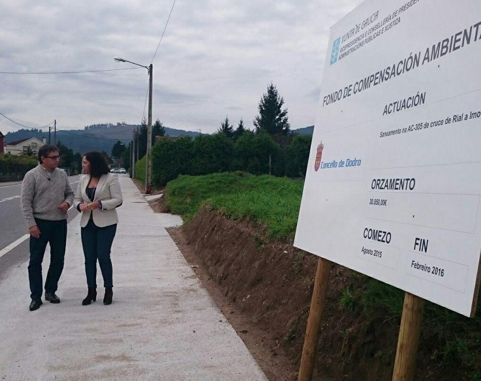 El alcalde Valentín Alfonsín y Belén do Campo visitaron las obras.