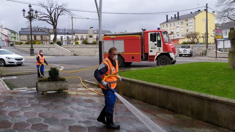 Friol intensifica as súas labores de limpeza