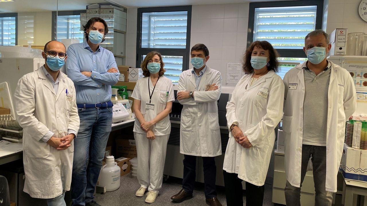 Pedro Marcos, Eduardo Barge, Marisa Crespo-Leiro, Germán Bou, Nieves Domenech y Javier Cid, del Hospital Universitario de A Coruña-CIBERCV.