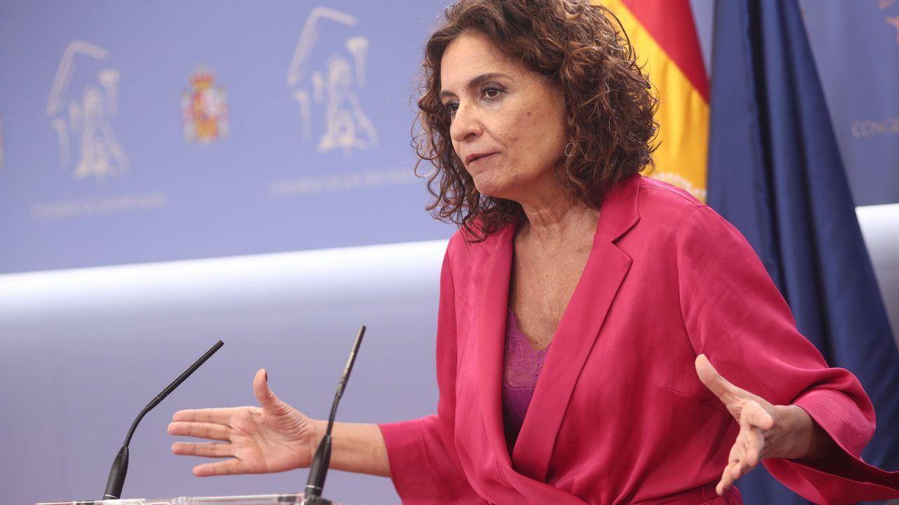 Javier Maroto, Teodoro García Egea, Pablo Casado y Cuca Gamarra, este lunes tras la reunión de la dirección del Grupo Popular