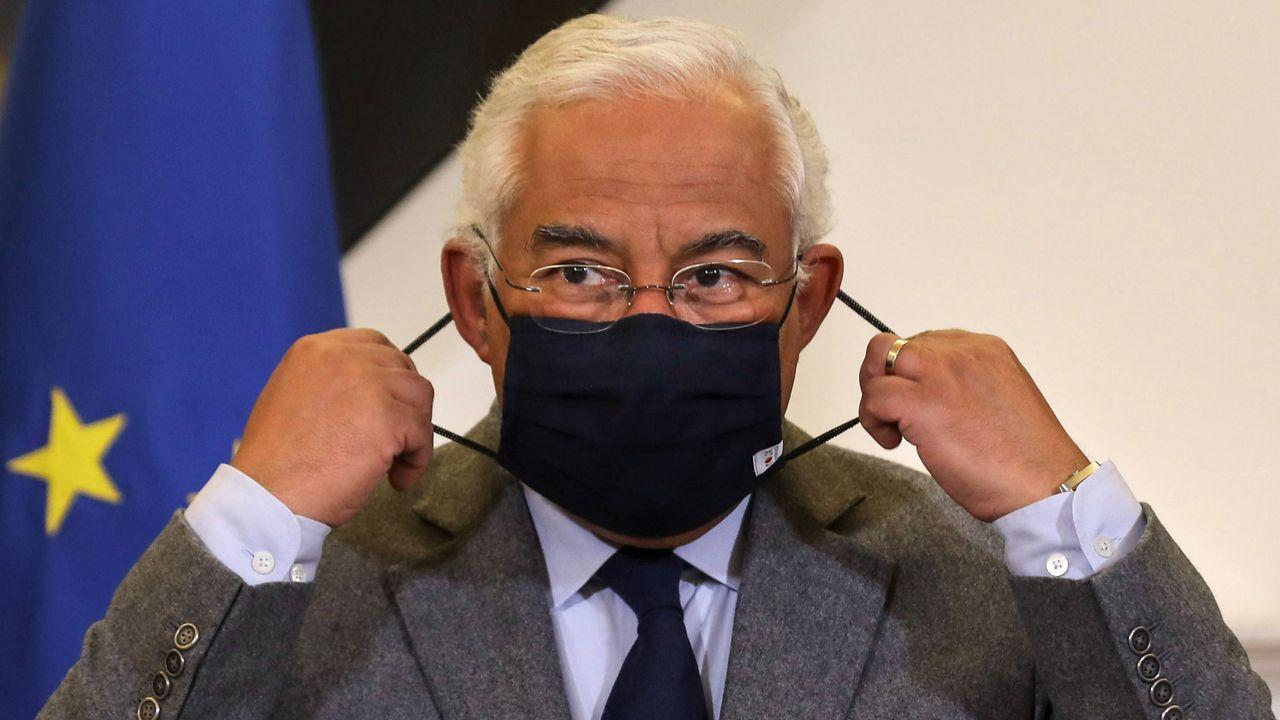 Feijoo anuncia las nuevas restricciones.El primer ministro portugués, Antonio Costa