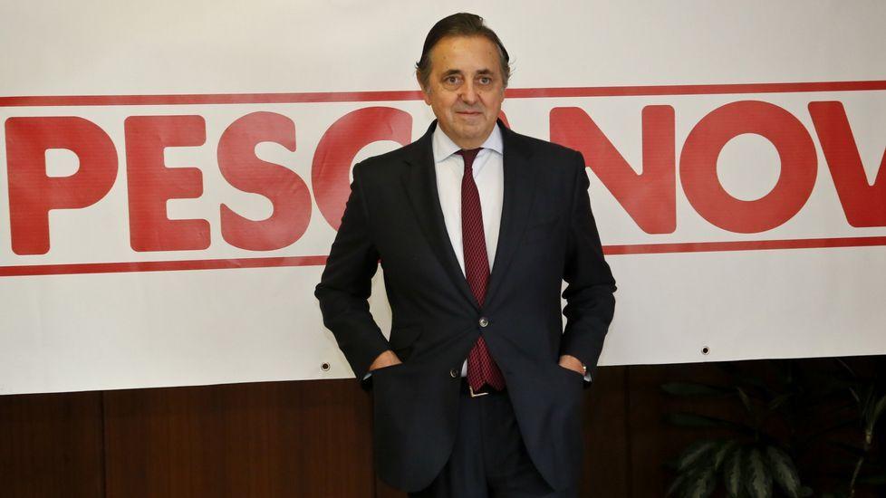 Jacobo González Robato, durante la junta general de accionistas de Nueva Pescanova