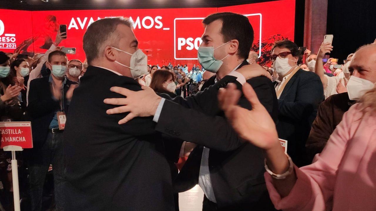 Gonzalo Caballero y Santos Cerdán, secretario de organización del PSOE