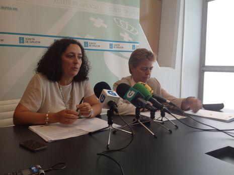 Belén do Campo y Ana María Díaz, durante la presentación