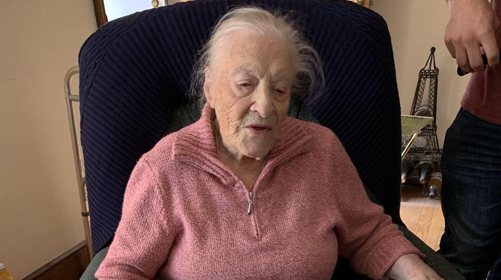 Roberta, en su 111 cumpleaños, en abril del año pasado