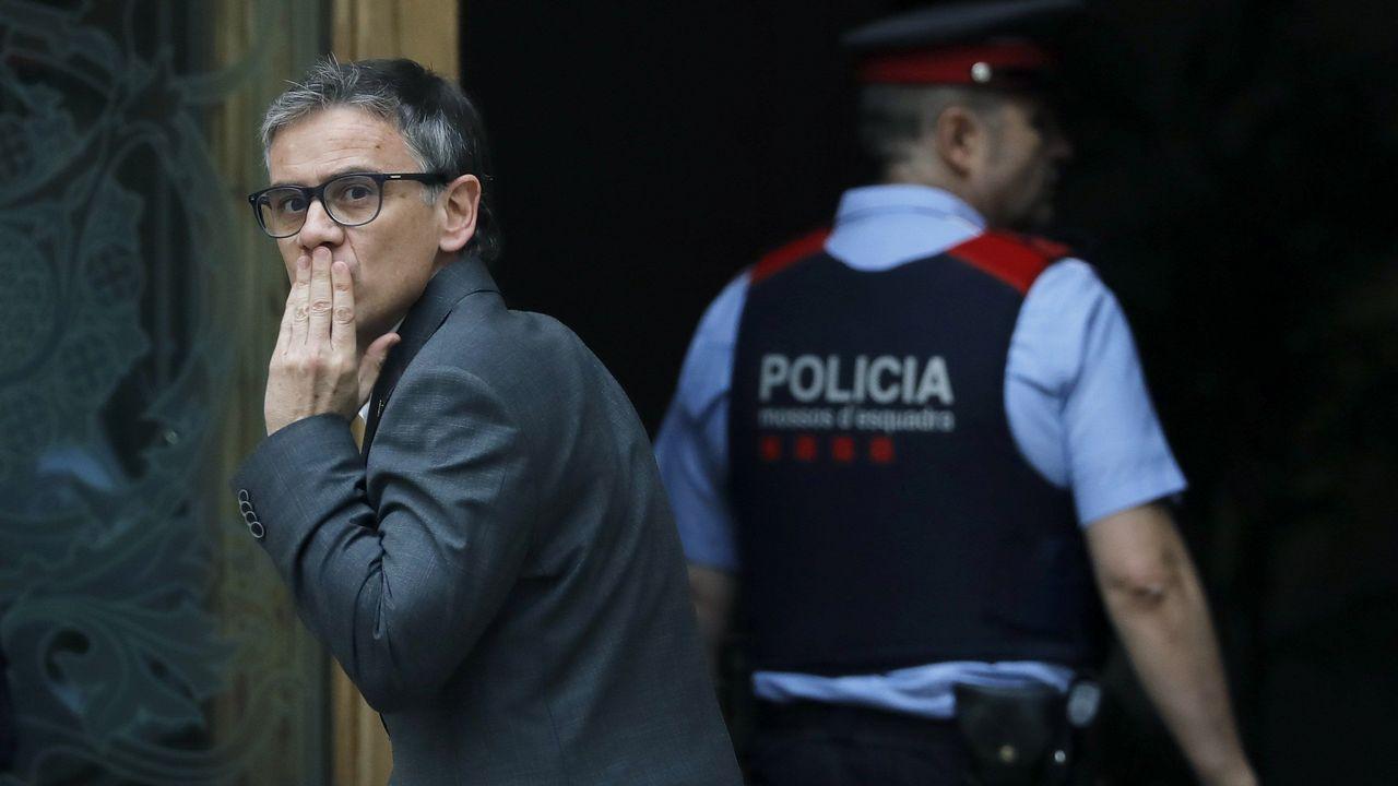 Josep María Jové compareció hoy y se negó a someterse a una prueba caligráfica