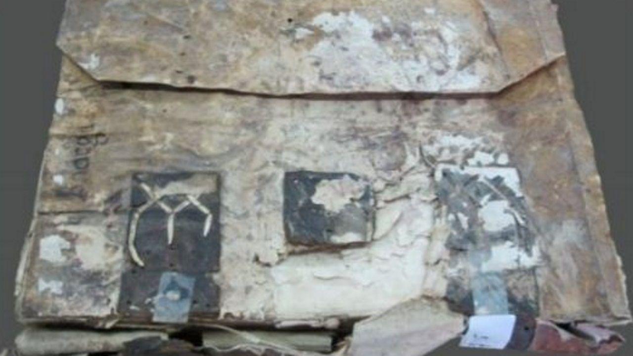Una visita en imágenes al punto de encuentro de los ríos Cabe y Sil.Uno de los manuscritos