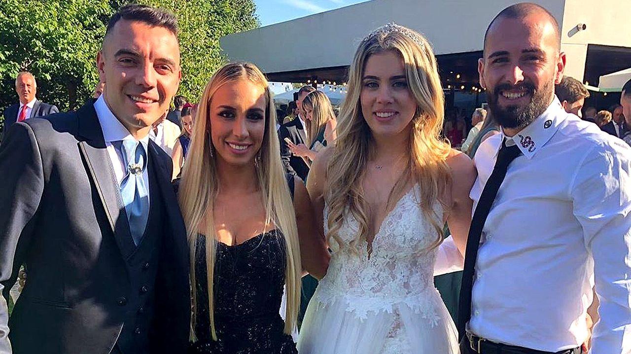 Aspas y Jennifer Rueda se casan en Poio