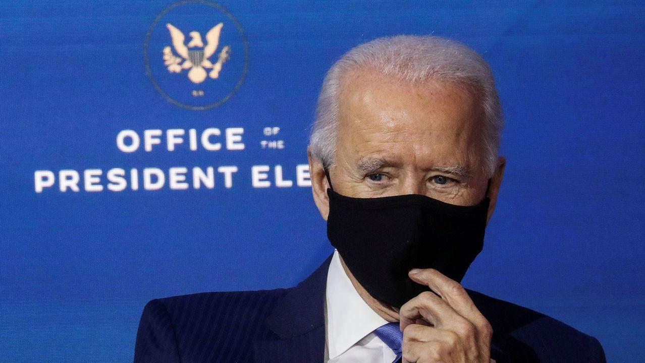 Biden, en la sede de la transición en Delaware