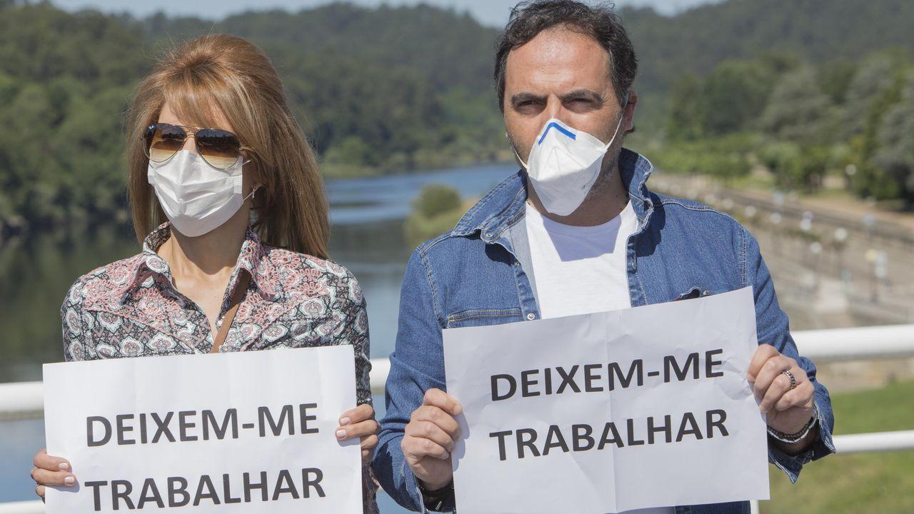 Jornada de protesta de la flota gallega en Baiona.Imagen de A Guarda
