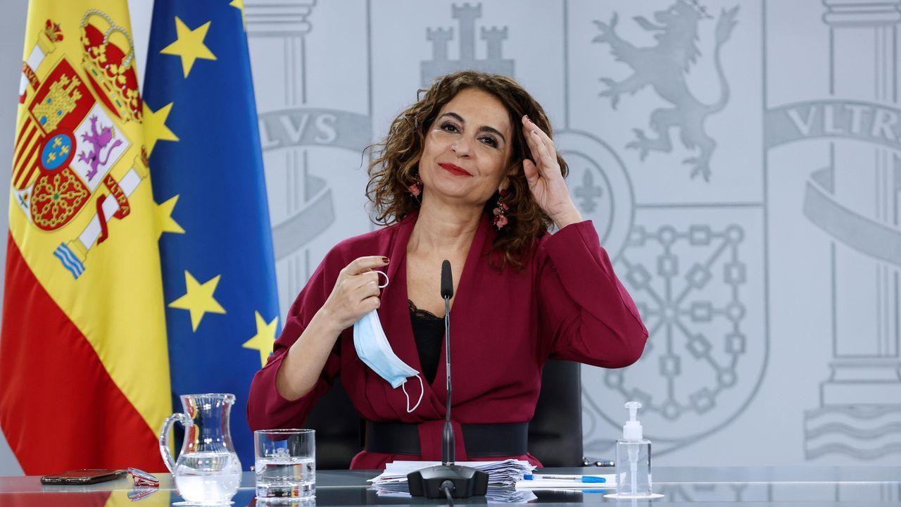 En directo | Comparecencia de Pedro Sánchez tras el Consejo de Ministros.La portavoz del Gobierno, María Jesús Montero, en la rueda de prensa posterior al Consejo de Ministros de este martes.