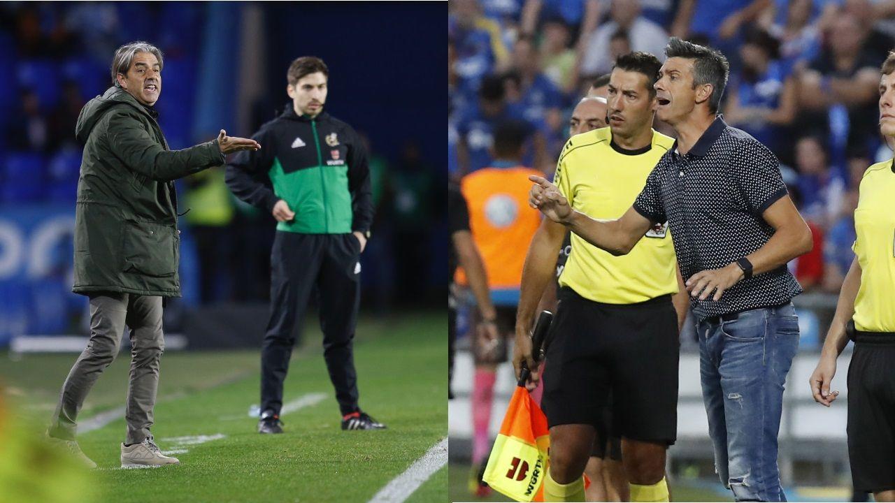 Gol Christian Fernandez Real Oviedo Nastic Carlos Tartiere.Los jugadores del Oviedo saludan a la afición tras el empate ante el Lugo