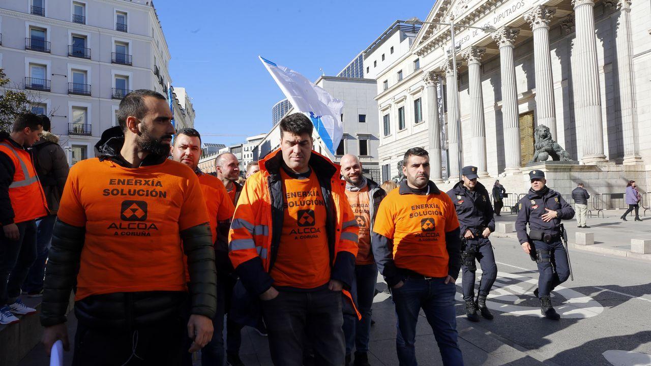 Trabajadores de Alcoa en Madrid
