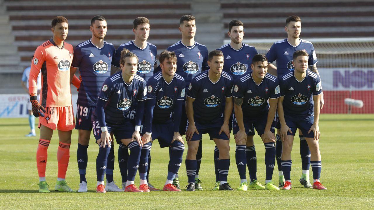Las imágenes del celtismo en Getafe.Imagen del Conxo-Deportivo juvenil de esta temporada