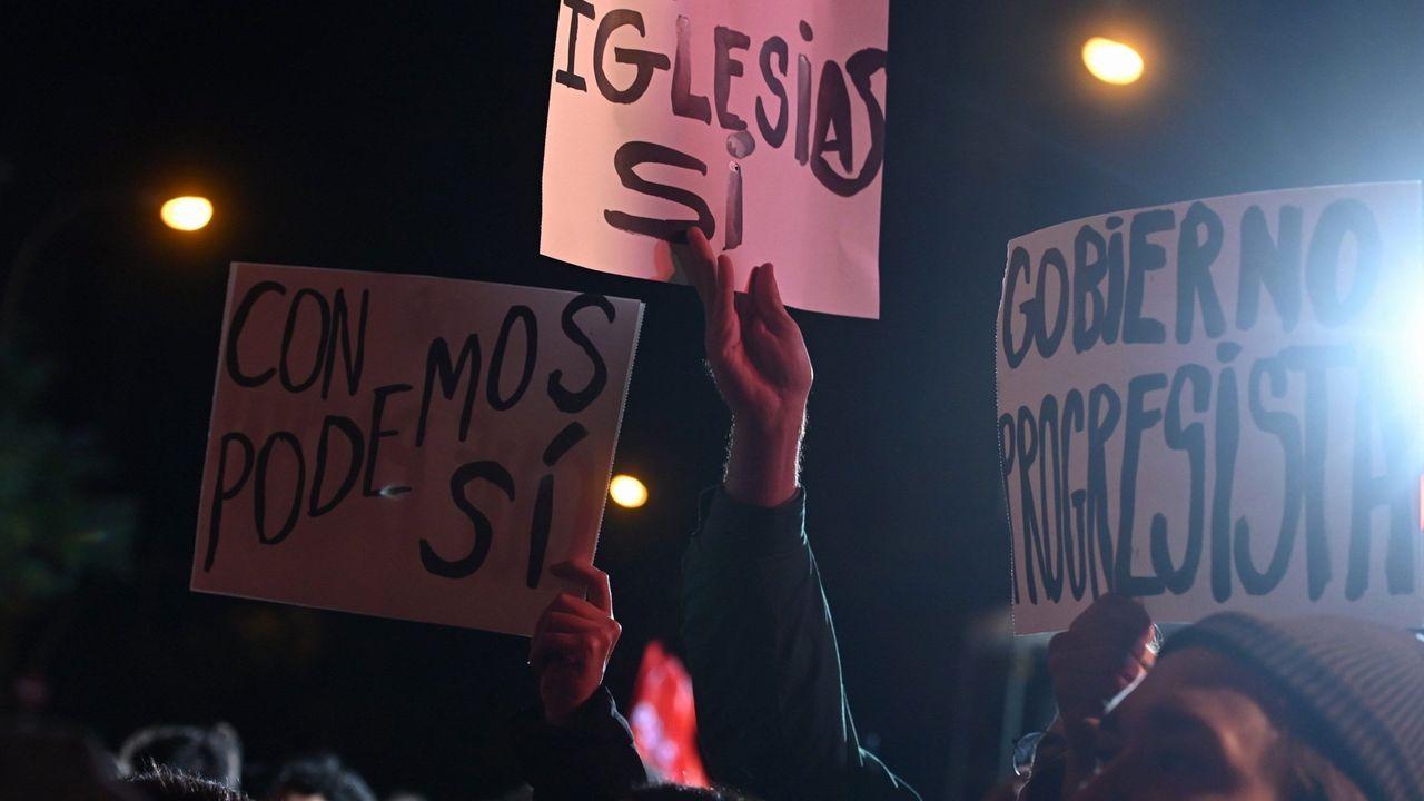 Militantes socialistas pidieron a Pedro Sánchez, la misma noche del 10N, que buscase un acuerdo con Podemos