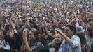 Espectadores en la última edición del festival O Son do Camiño, en el Monte do Gozo