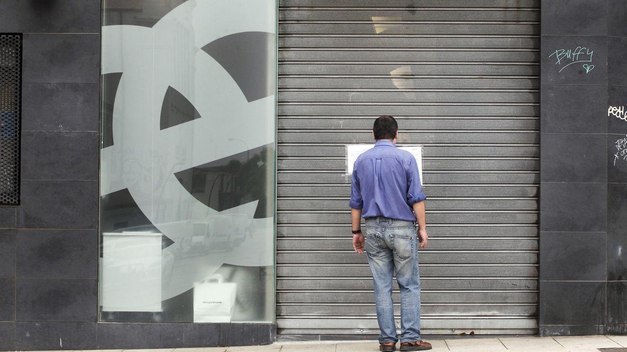 La sede del INEM cerrada, durante la pandemia